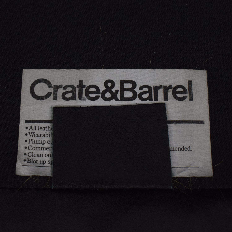 Crate & Barrel Crate & Barrel Black Leather Sofa nj