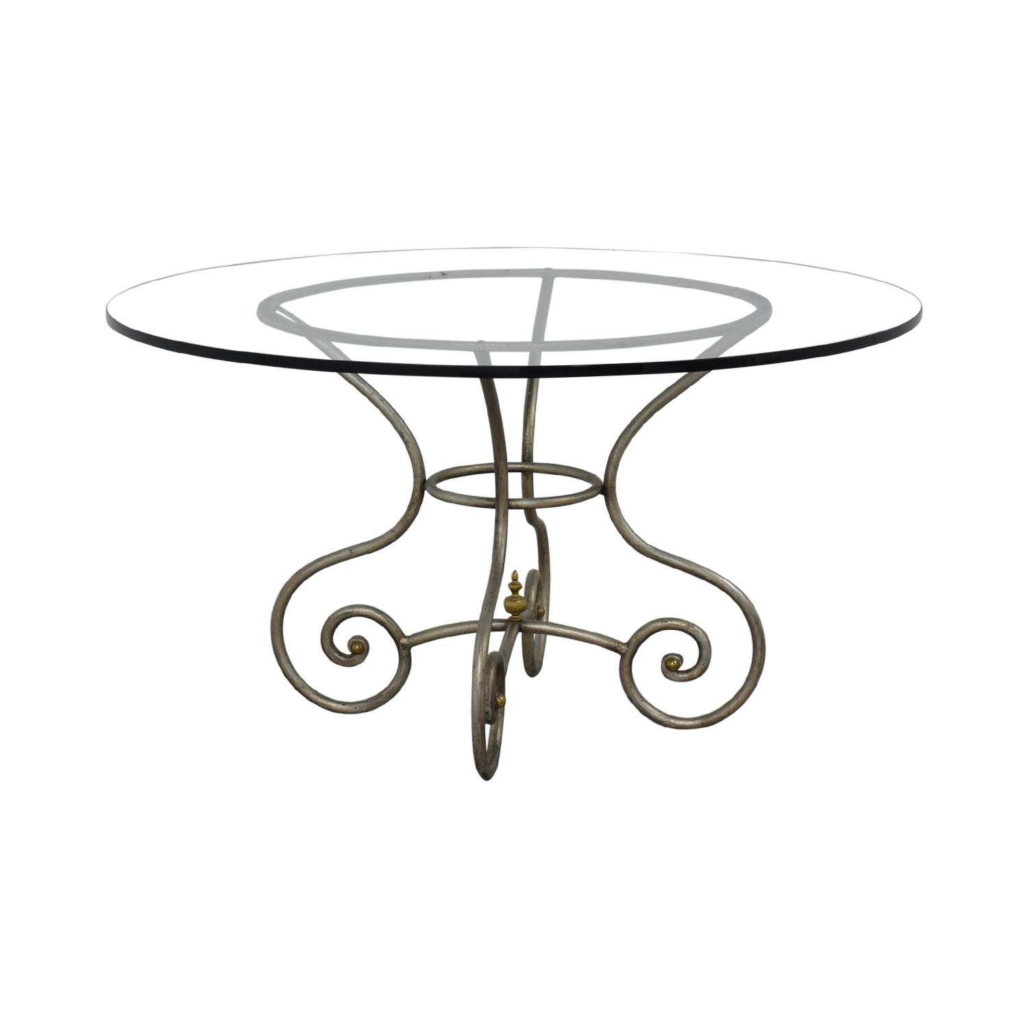 buy Round Glass Vintage Dining Table  Tables