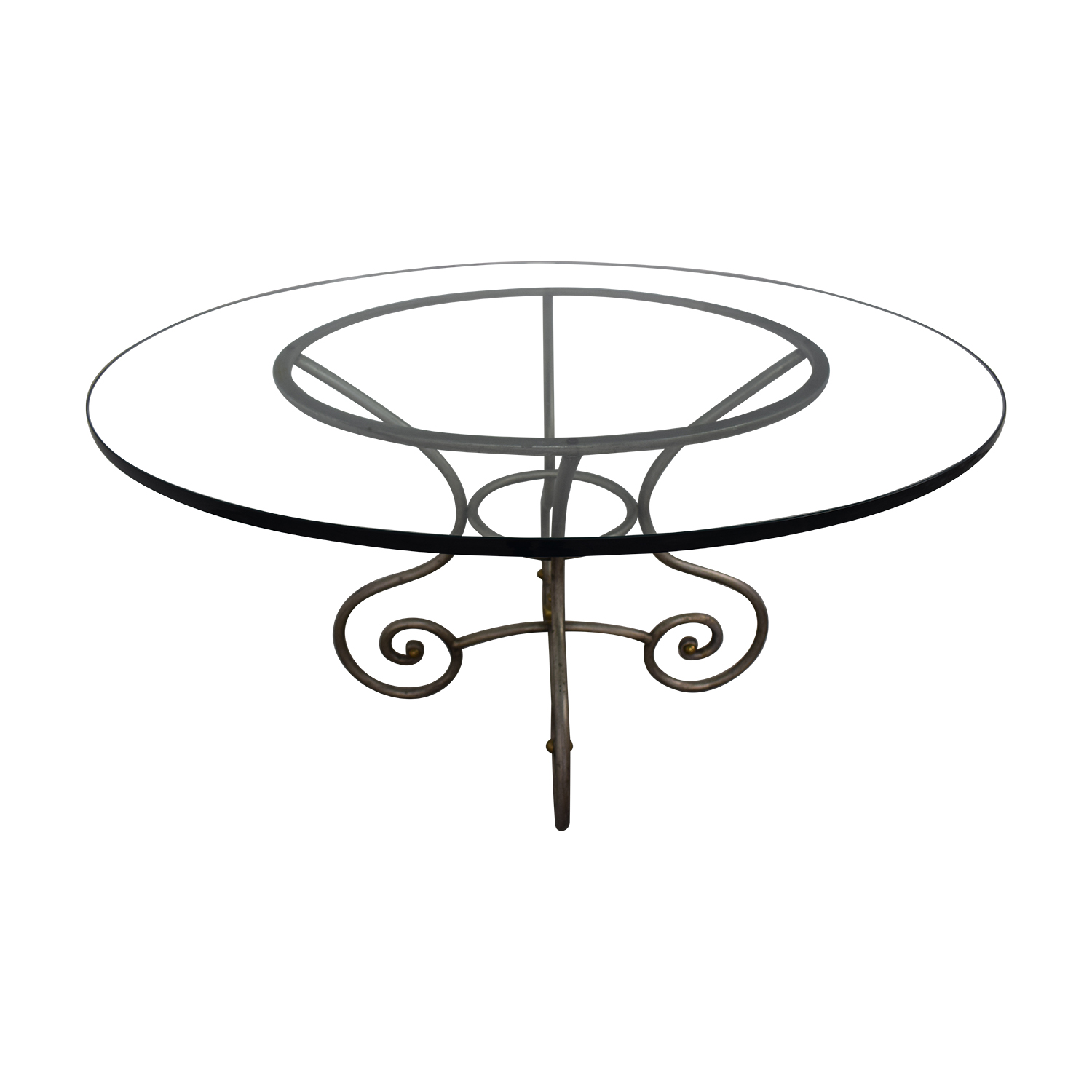 shop Round Glass Vintage Dining Table