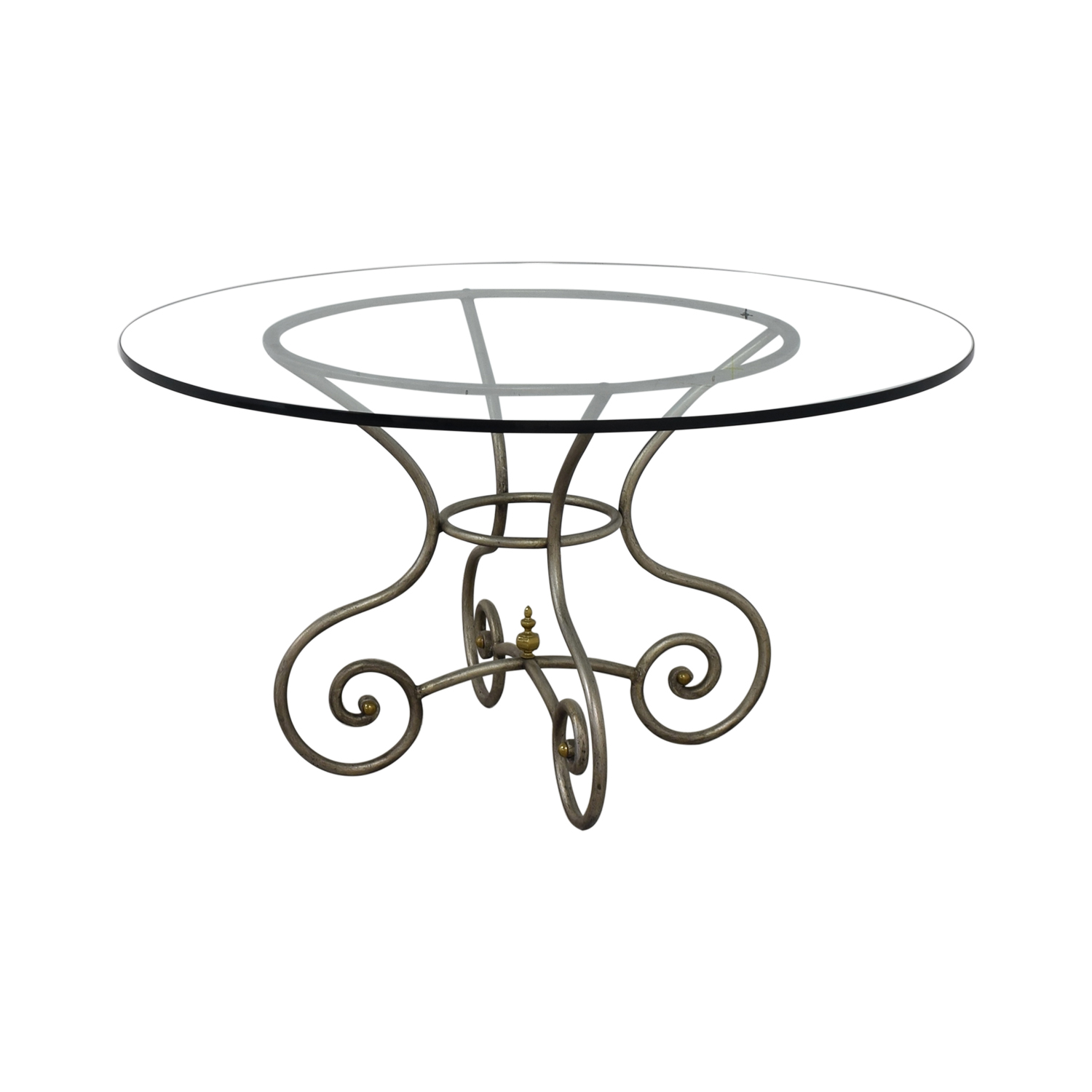 Round Glass Vintage Dining Table / Tables