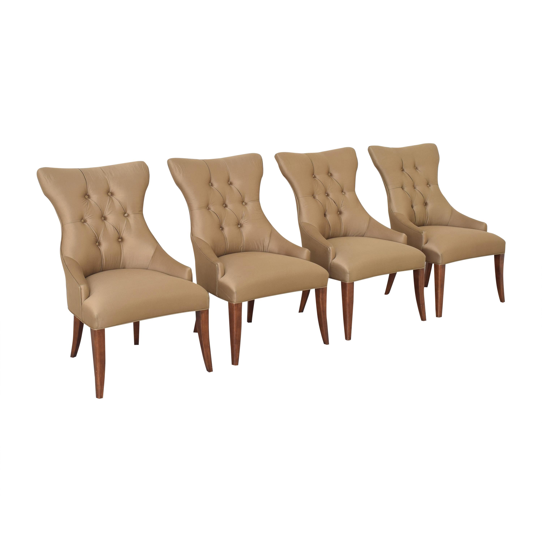 Bernhardt Gray Deco Dining Chairs sale