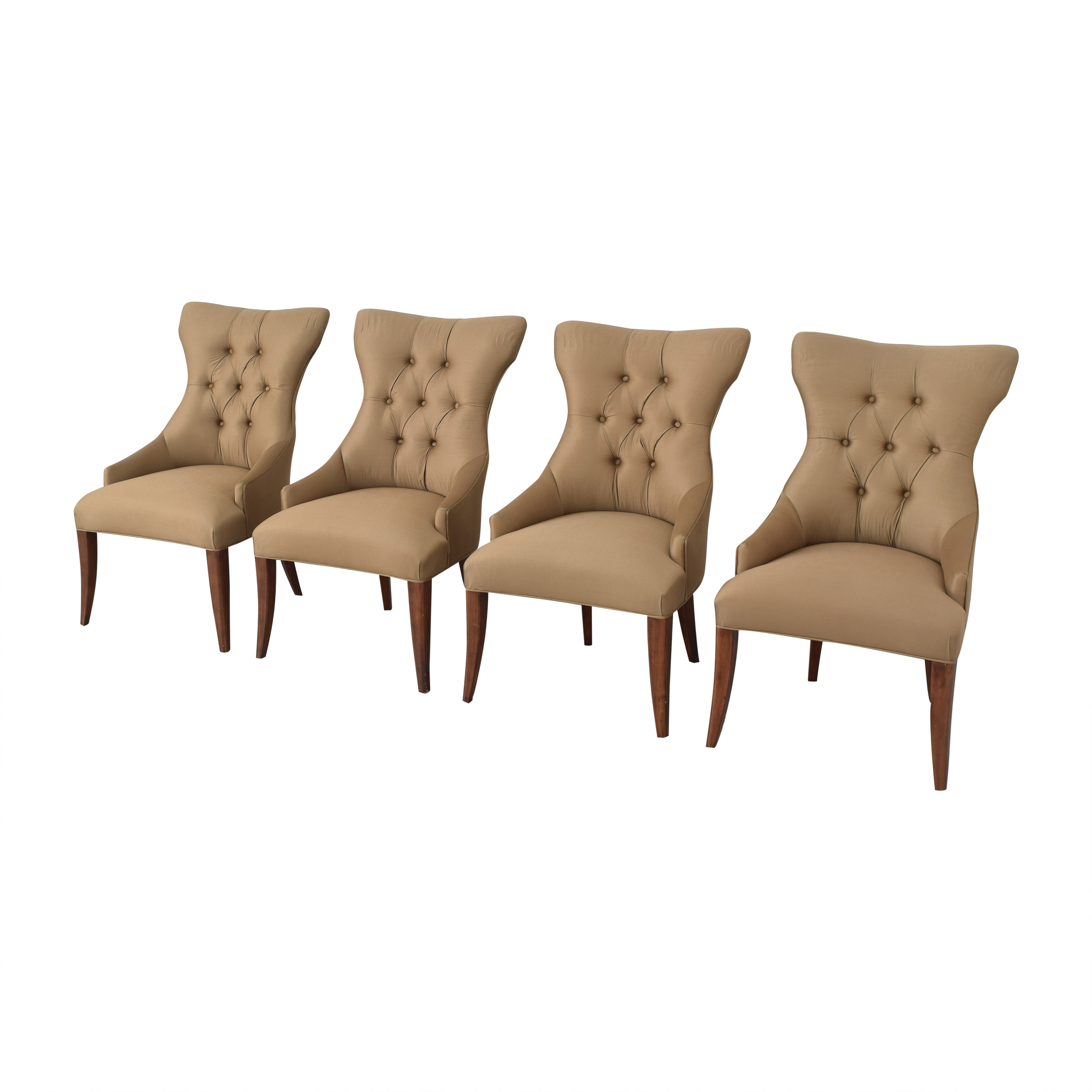 Bernhardt Gray Deco Dining Chairs / Chairs