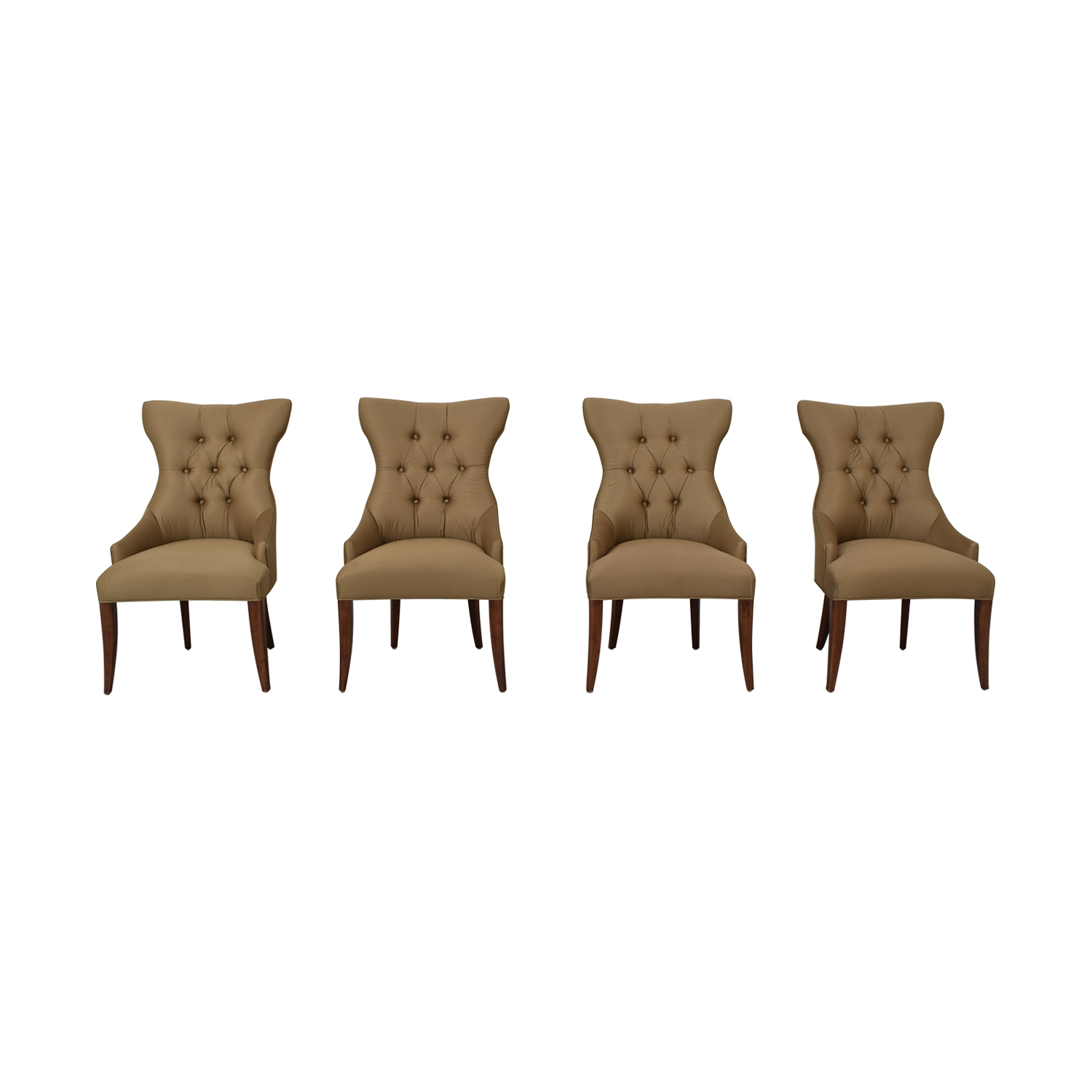 shop Bernhardt Gray Deco Dining Chairs Bernhardt