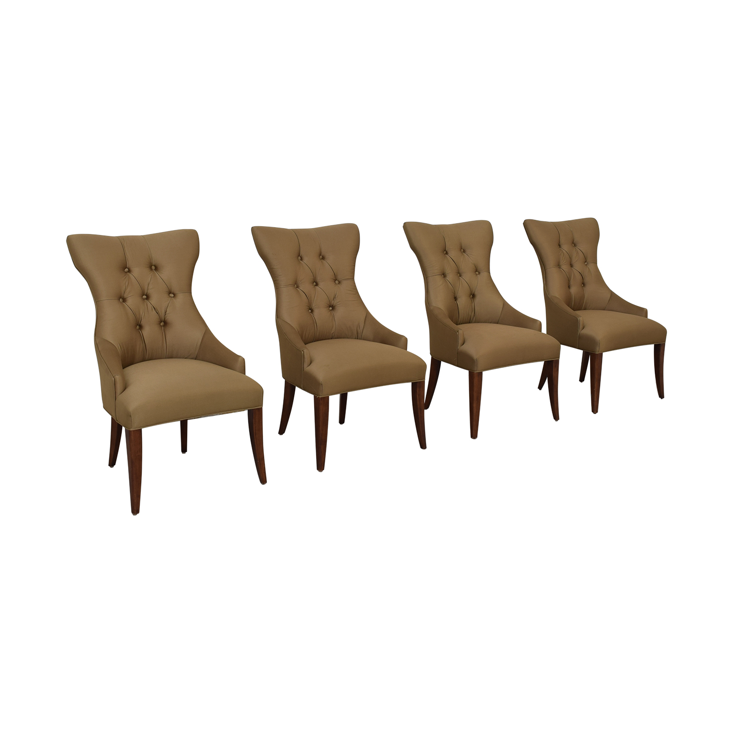 Bernhardt Gray Deco Dining Chairs sale