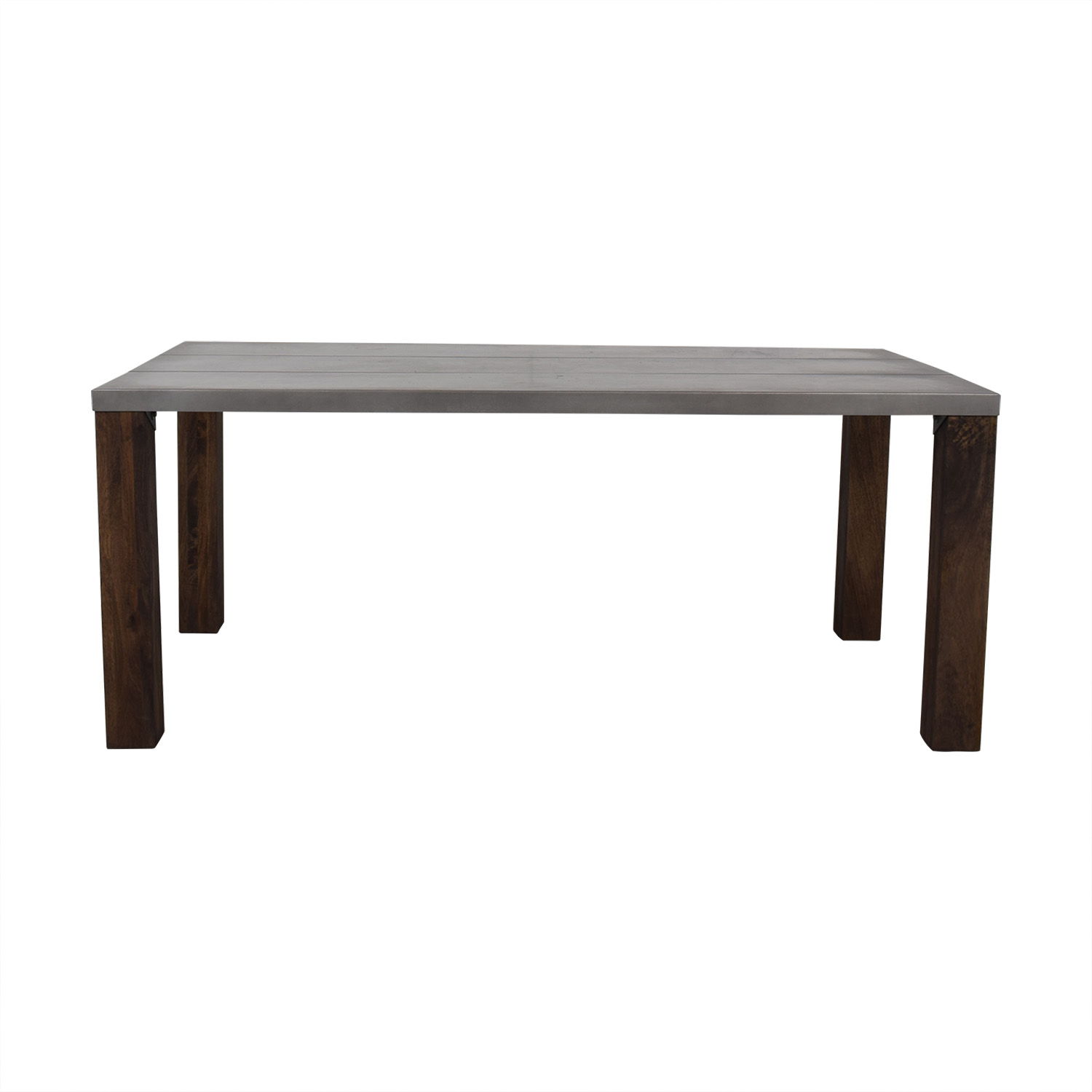 Crate & Barrel Crate & Barrel Galvin Metal Top Dining Table Dinner Tables