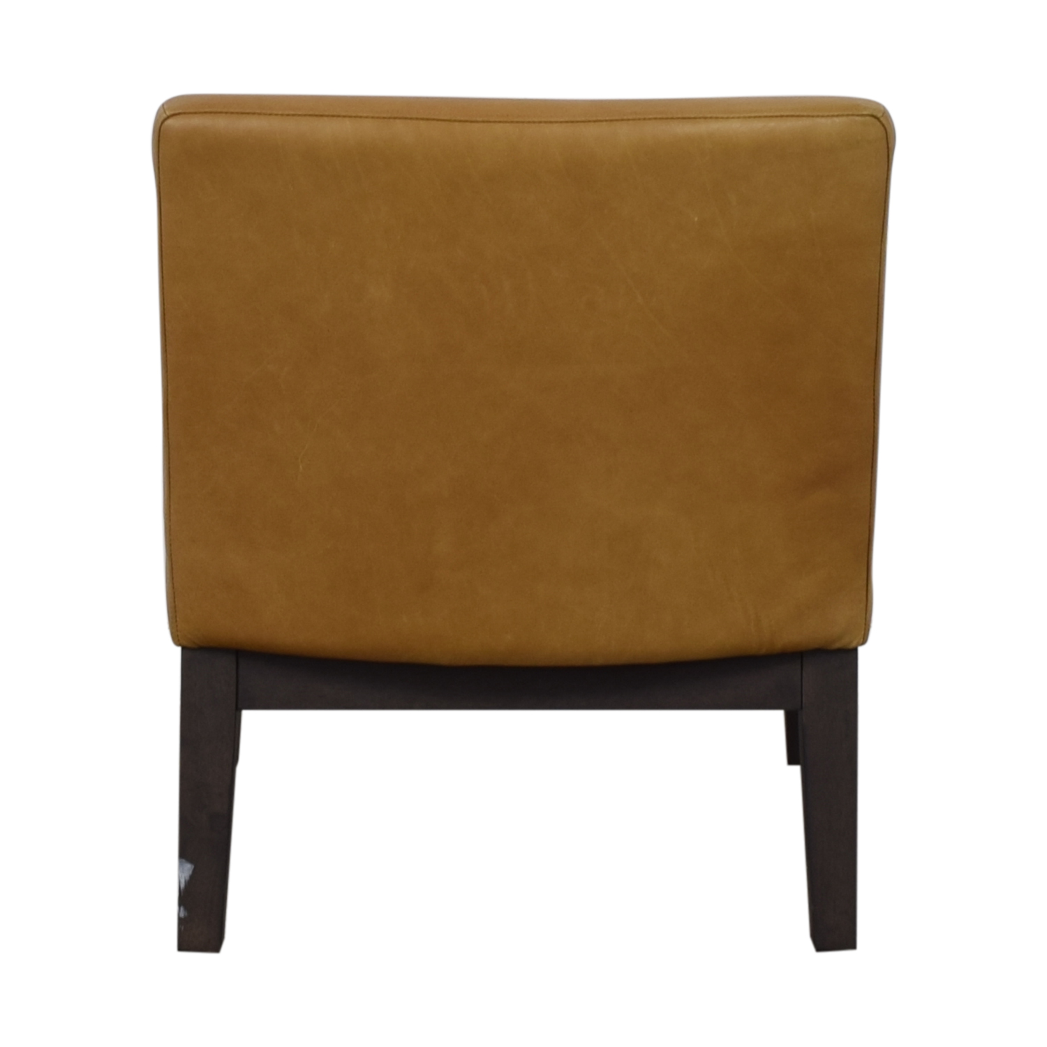 shop West Elm Orange Tan Leather Chair West Elm Chairs