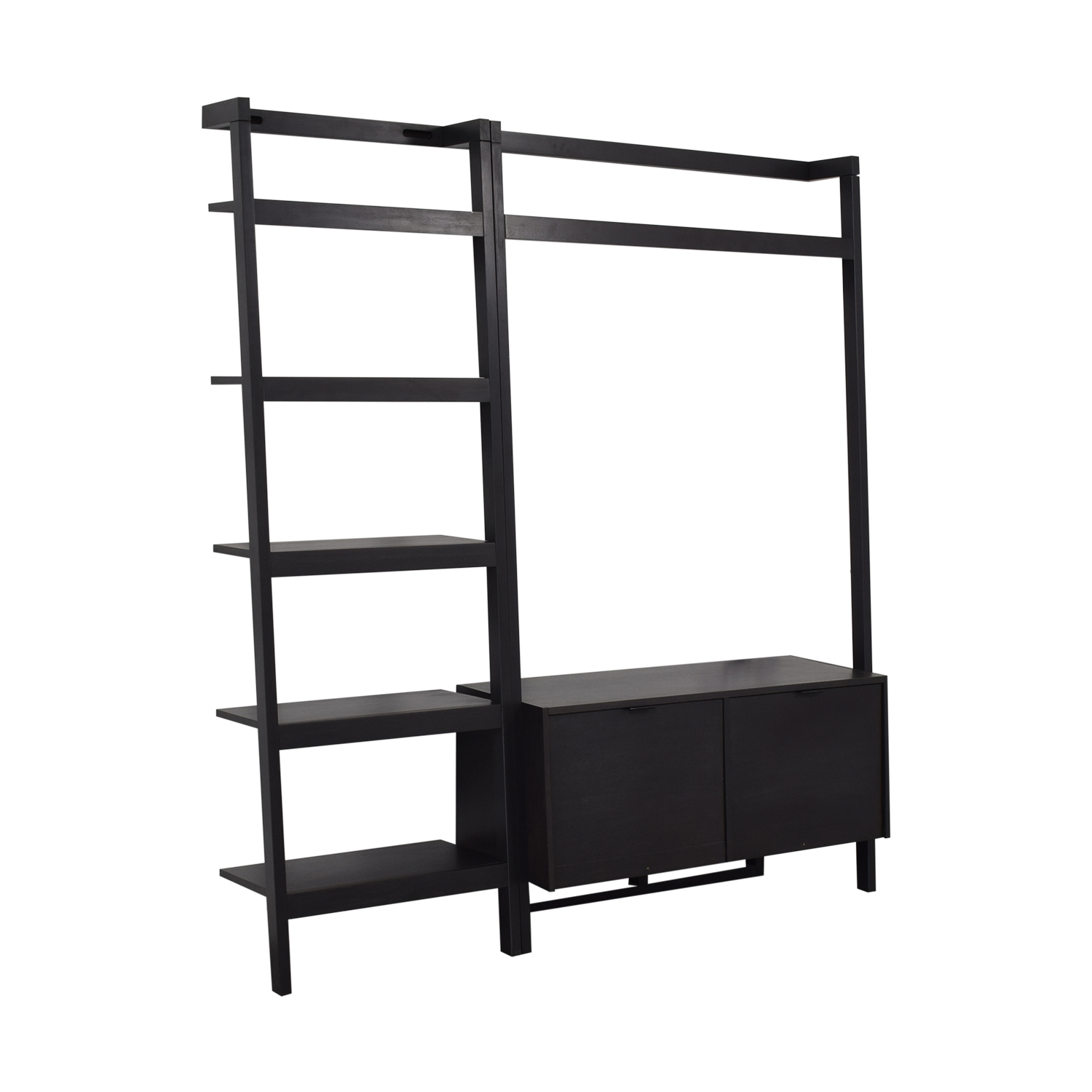 Crate & Barrel Sawyer Media Unit and Bookshelf Crate & Barrel