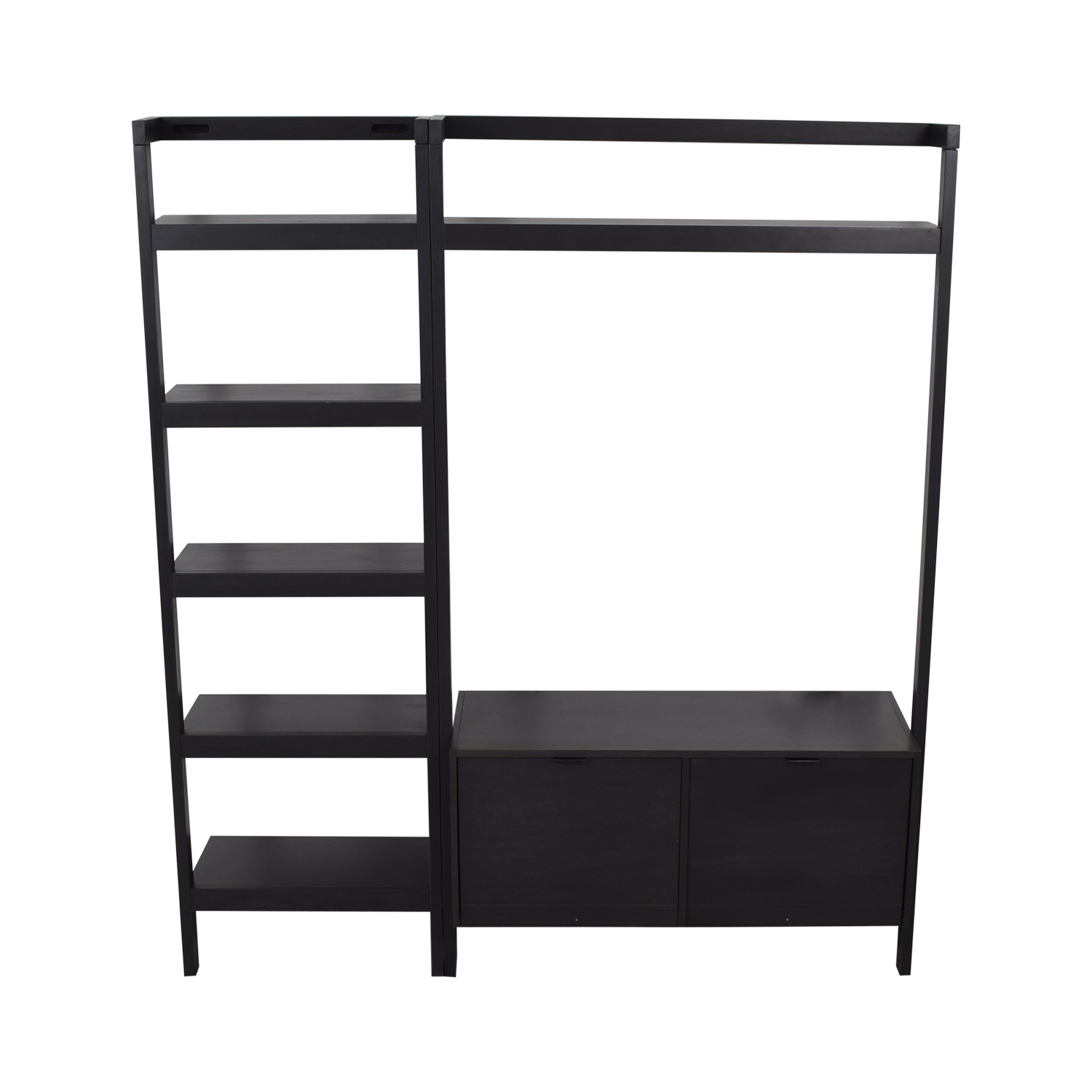 buy Crate & Barrel Sawyer Media Unit and Bookshelf Crate & Barrel Storage
