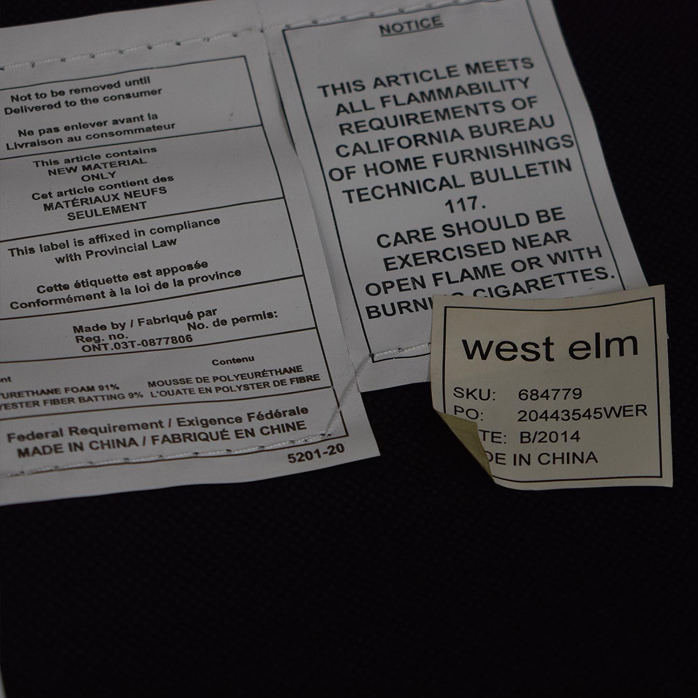 West Elm West Elm Orange Tan Leather Chair nj