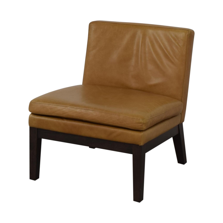 West Elm West Elm Orange Tan Leather Chair price