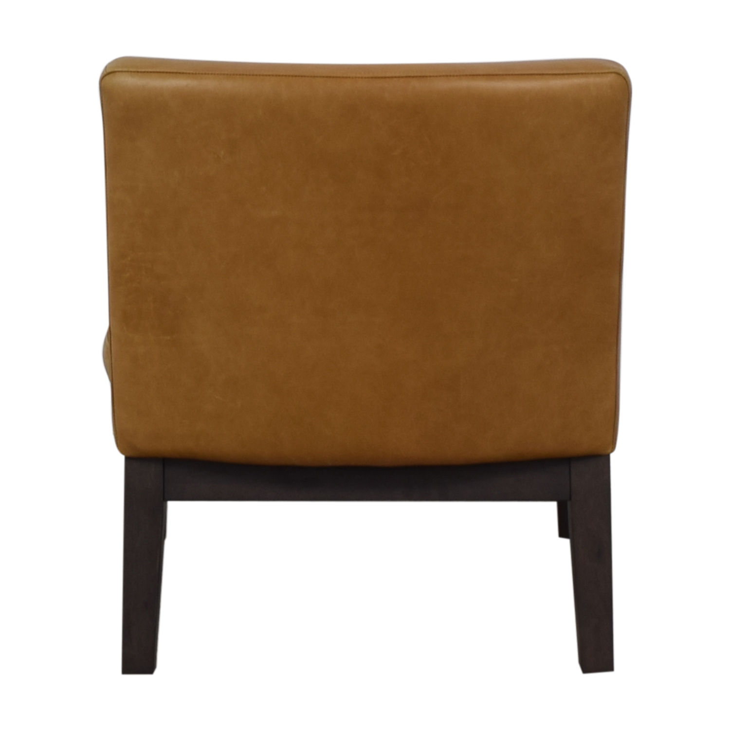West Elm West Elm Orange Tan Leather Chair Accent Chairs
