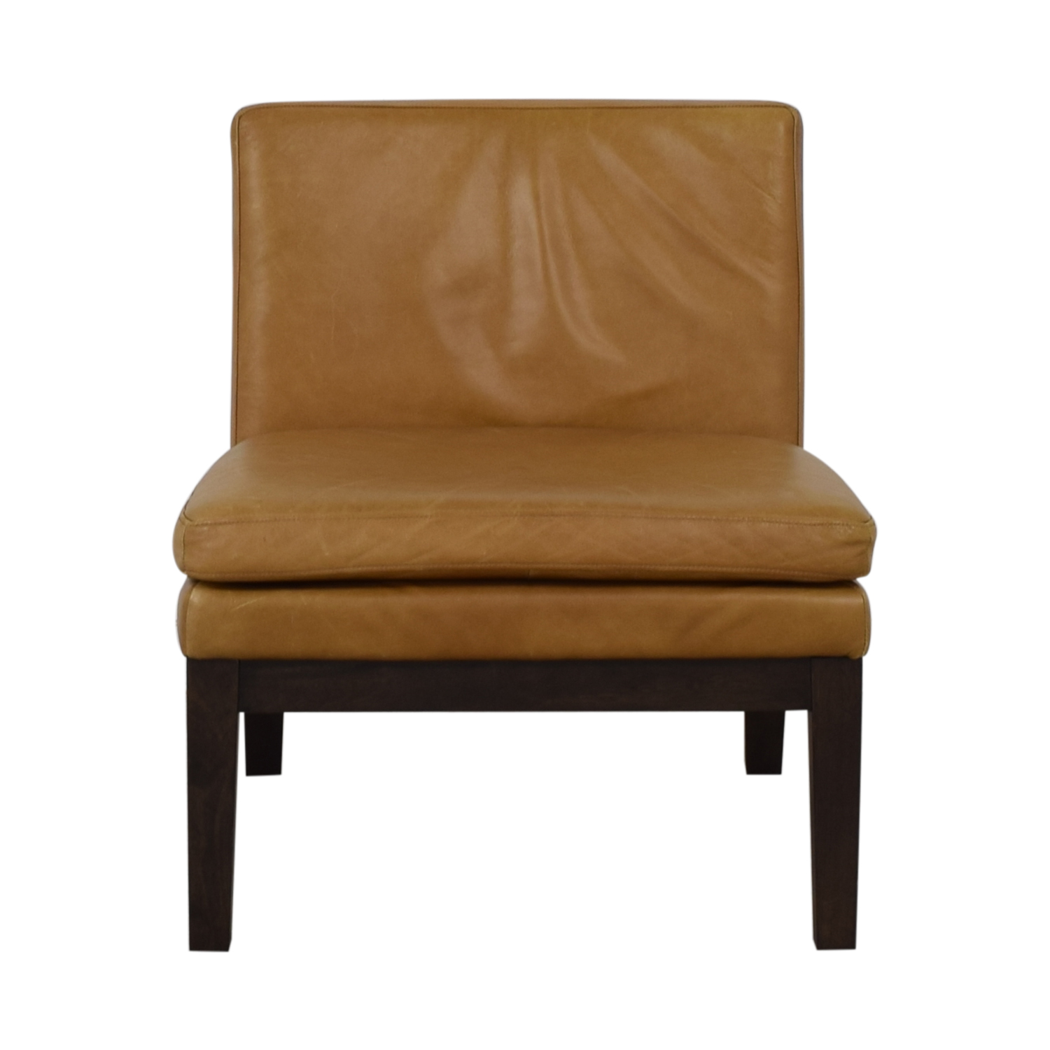 West Elm West Elm Orange Tan Leather Chair