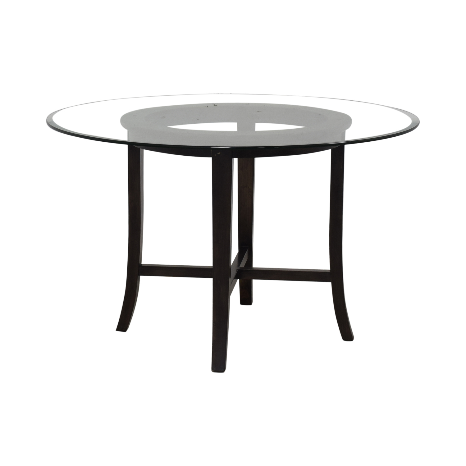 Crate & Barrel Crate & Barrel Halo Round Glass Dining Table discount