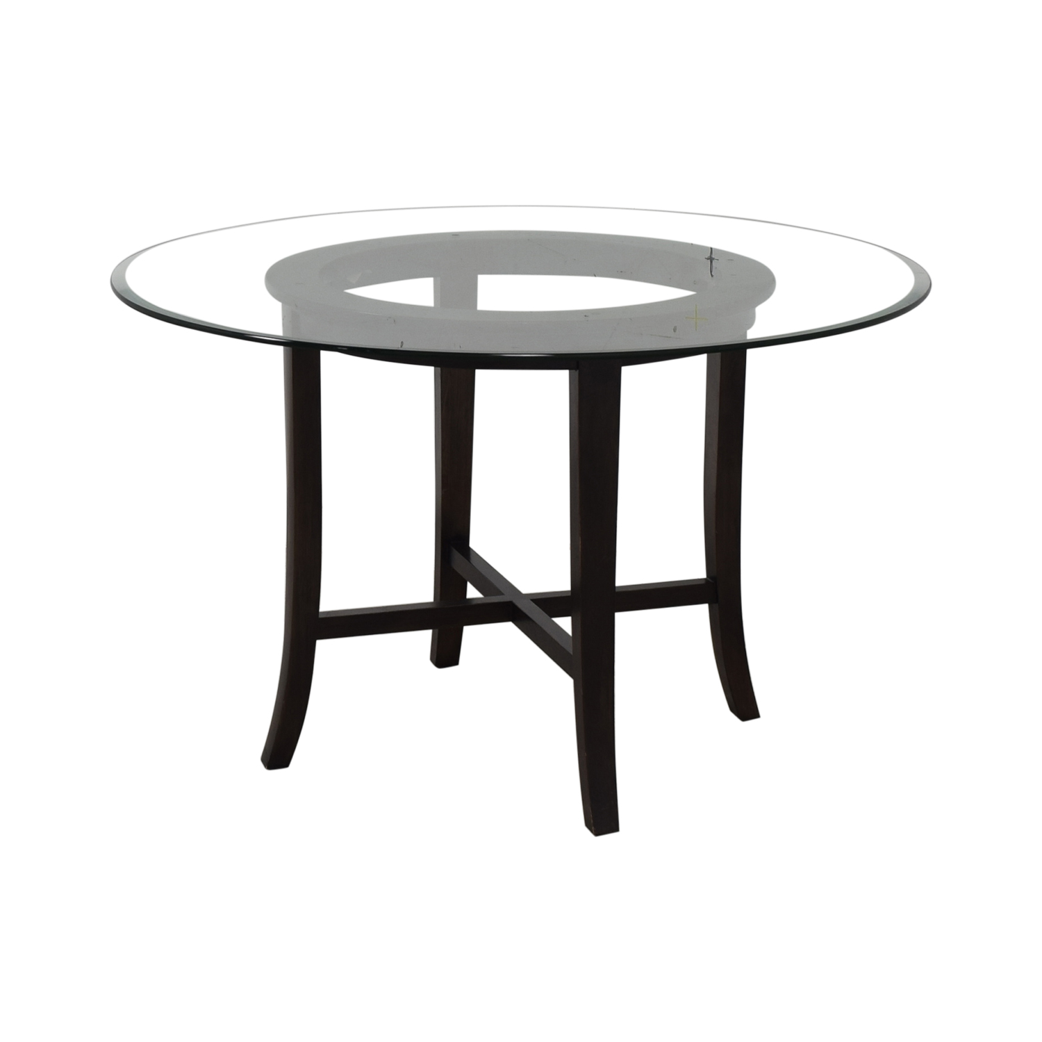 Crate & Barrel Crate & Barrel Halo Round Glass Dining Table coupon