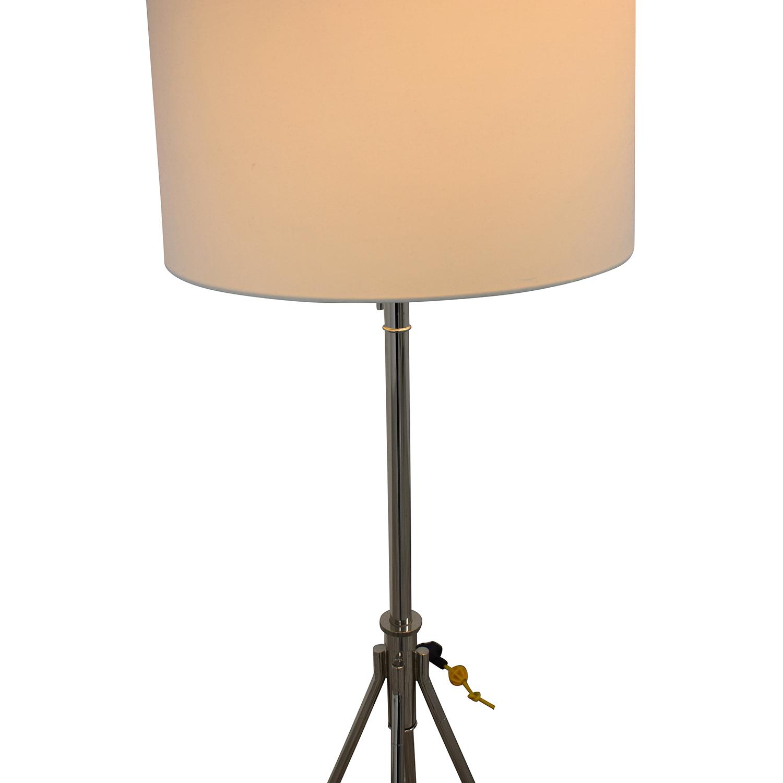 buy West Elm Adjustable Metal Floor Lamp Polished Nickel West Elm