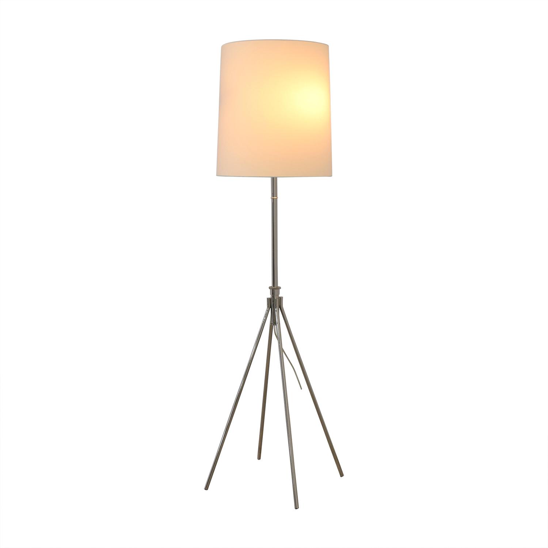 buy West Elm Adjustable Metal Floor Lamp Polished Nickel West Elm Lamps