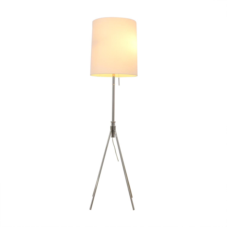 West Elm West Elm Adjustable Metal Floor Lamp Polished Nickel nyc