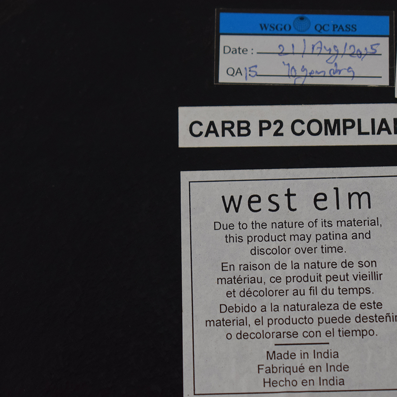 West Elm West Elm Metal Etched Side Table on sale
