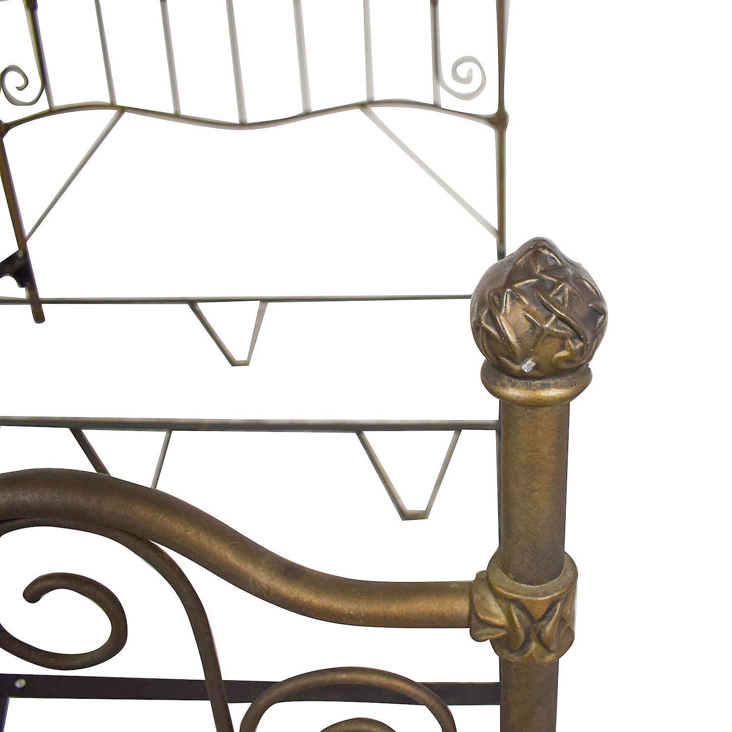 shop Charles P. Rogers Queen Sized Wrought Iron Bed Charles P. Rogers Beds