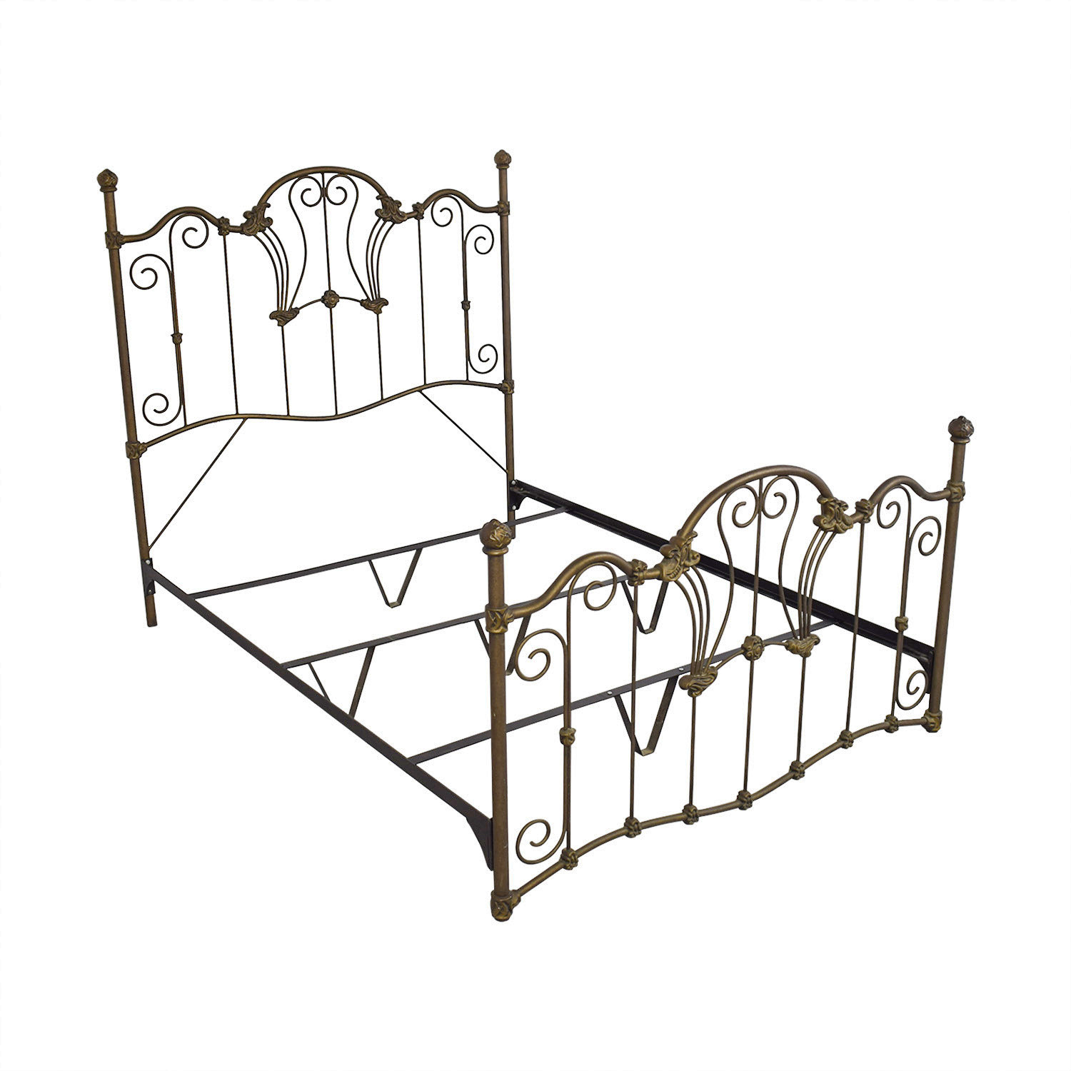 Charles P. Rogers Charles P. Rogers Queen Sized Wrought Iron Bed