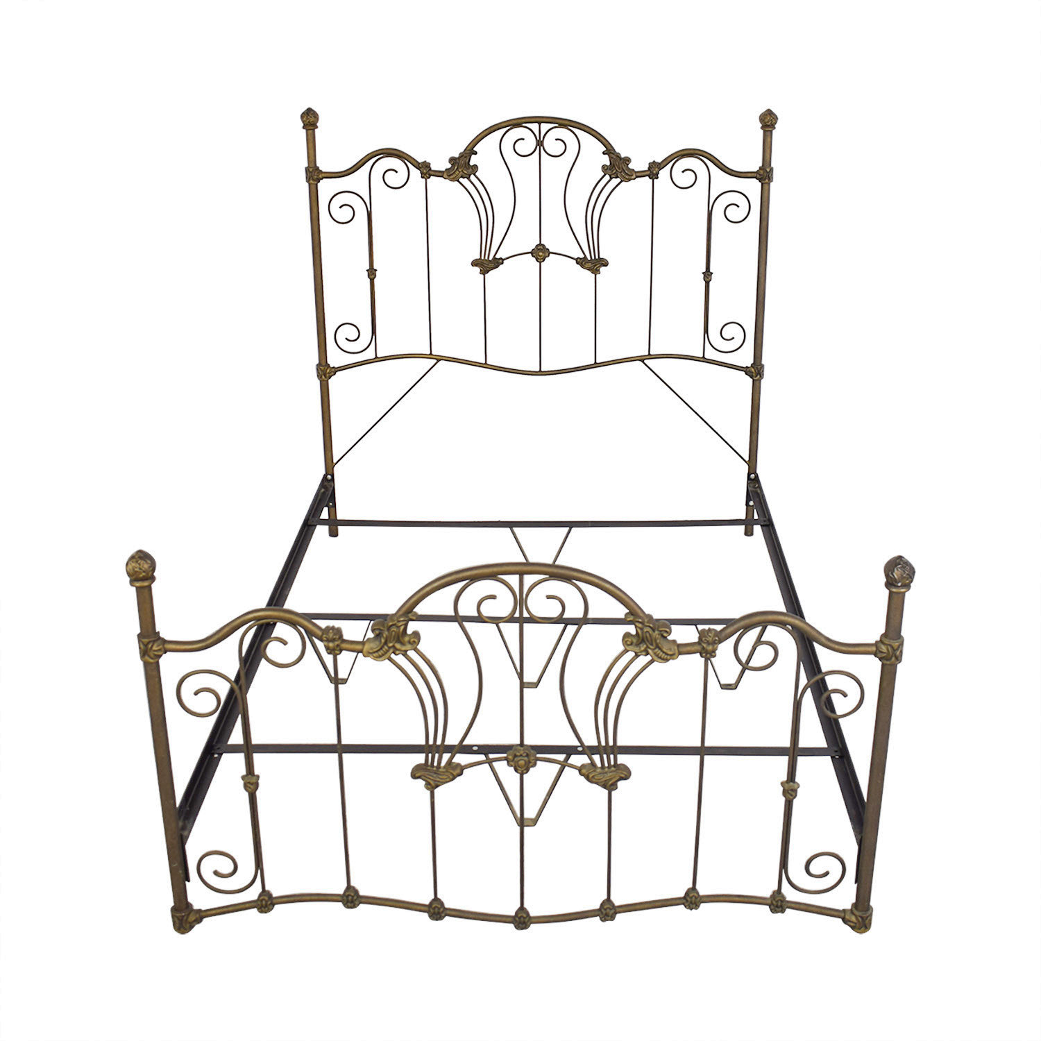 Charles P. Rogers Charles P. Rogers Queen Sized Wrought Iron Bed Beds