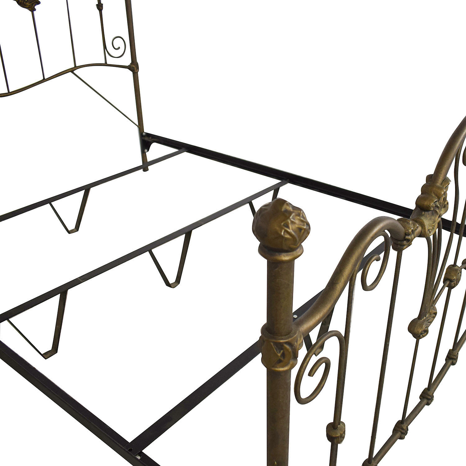 Charles P. Rogers Charles P. Rogers Queen Sized Wrought Iron Bed nj