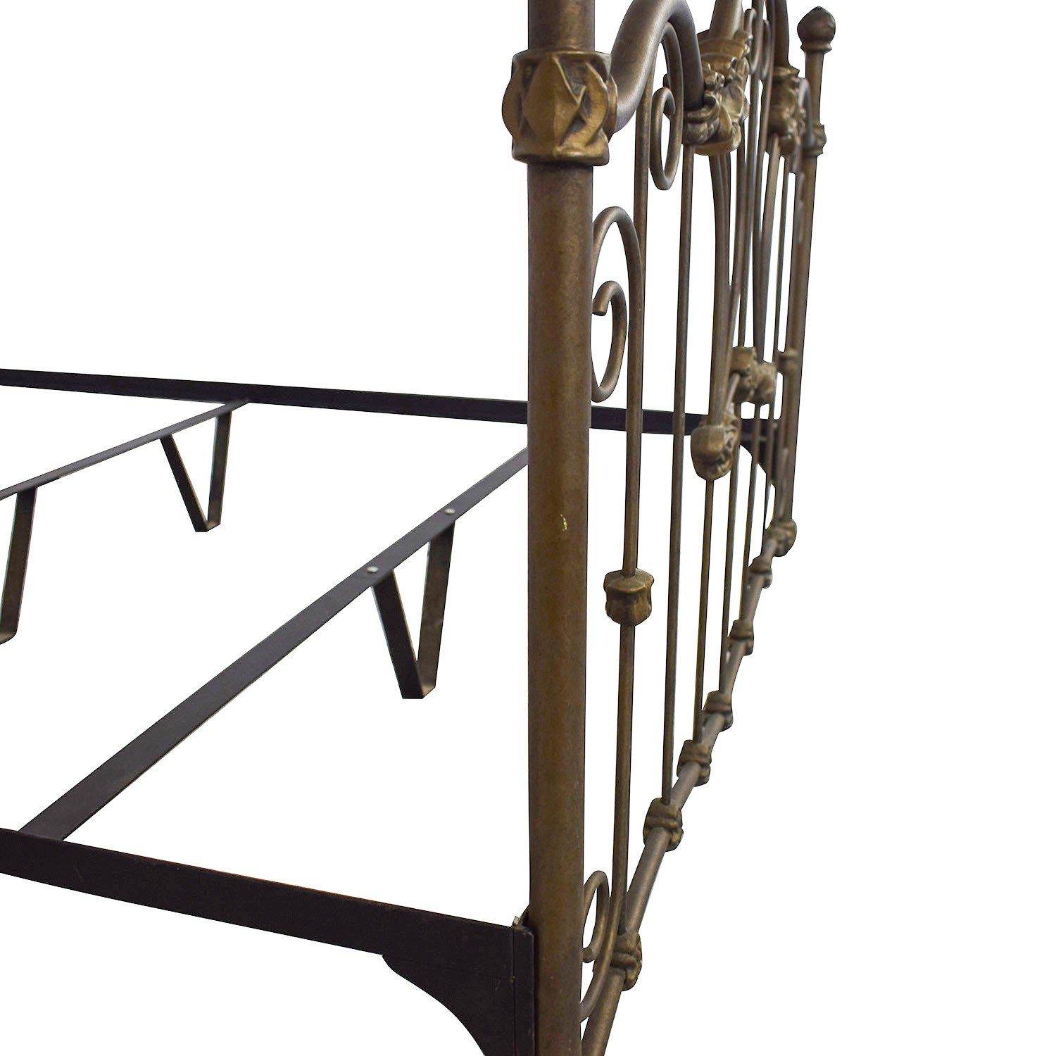 Charles P. Rogers Queen Sized Wrought Iron Bed sale