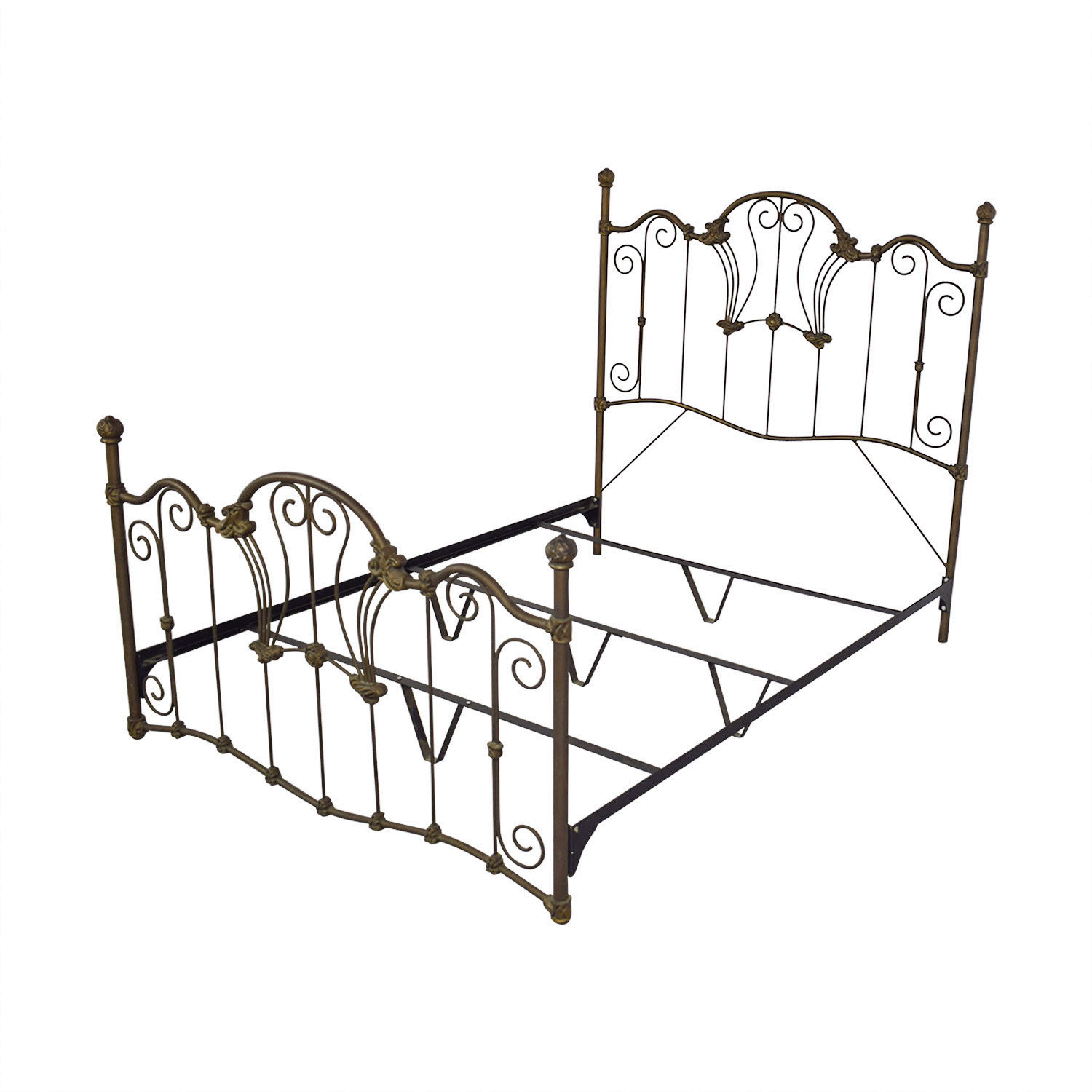 Charles P. Rogers Charles P. Rogers Queen Sized Wrought Iron Bed Bed Frames