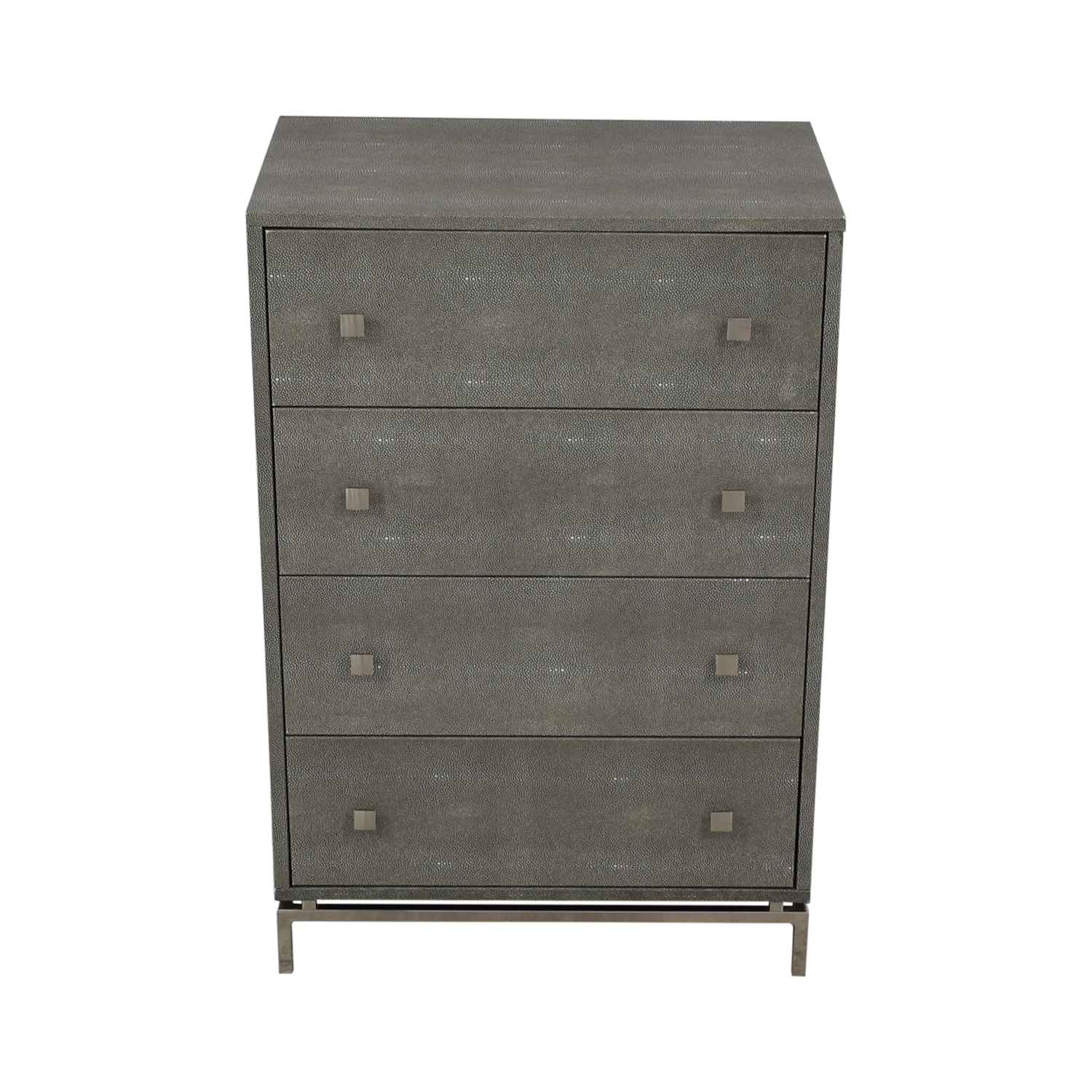 CB2 Shagreen Embossed Tall Chest sale