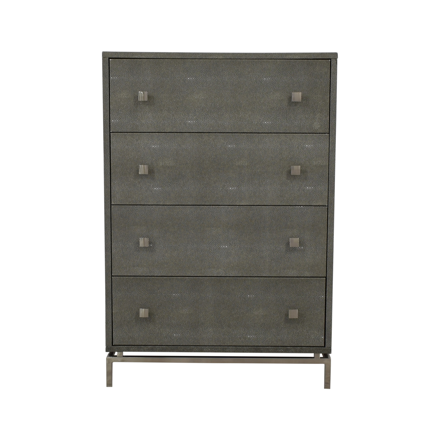 shop CB2 Shagreen Embossed Tall Chest CB2 Dressers