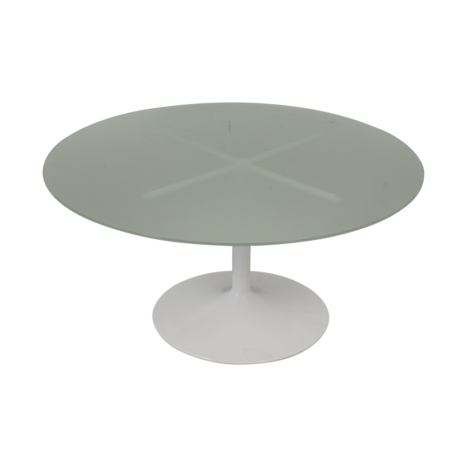 Room & Board Room & Board Aria Round Glass Dining Table dimensions