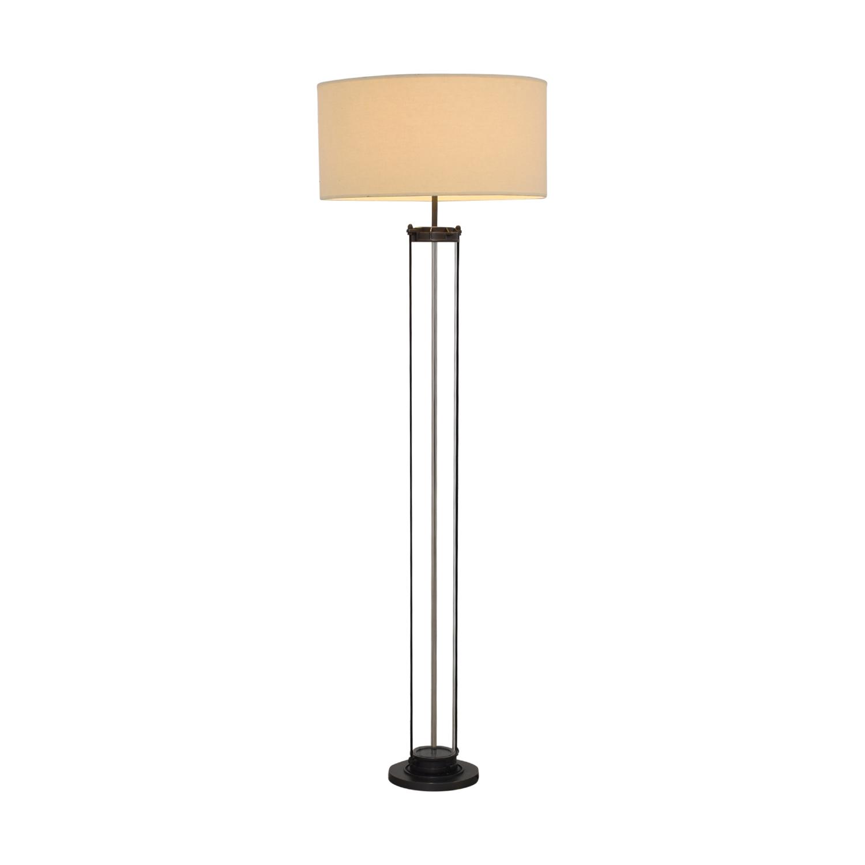 Restoration Hardware Restoration Hardware French Column Glass Floor Lamp for sale