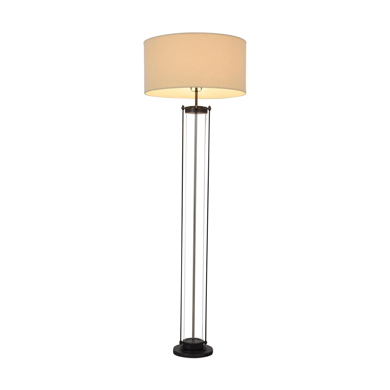 shop Restoration Hardware French Column Glass Floor Lamp Restoration Hardware Lamps