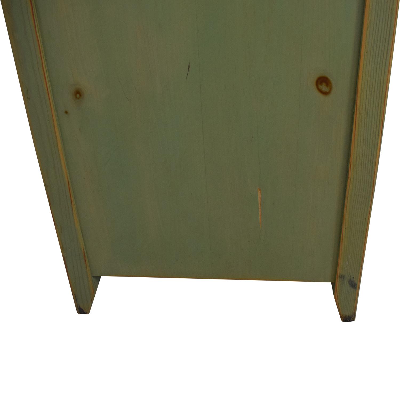 Gothic Cabinet Craft Green Distressed Dresser / Storage