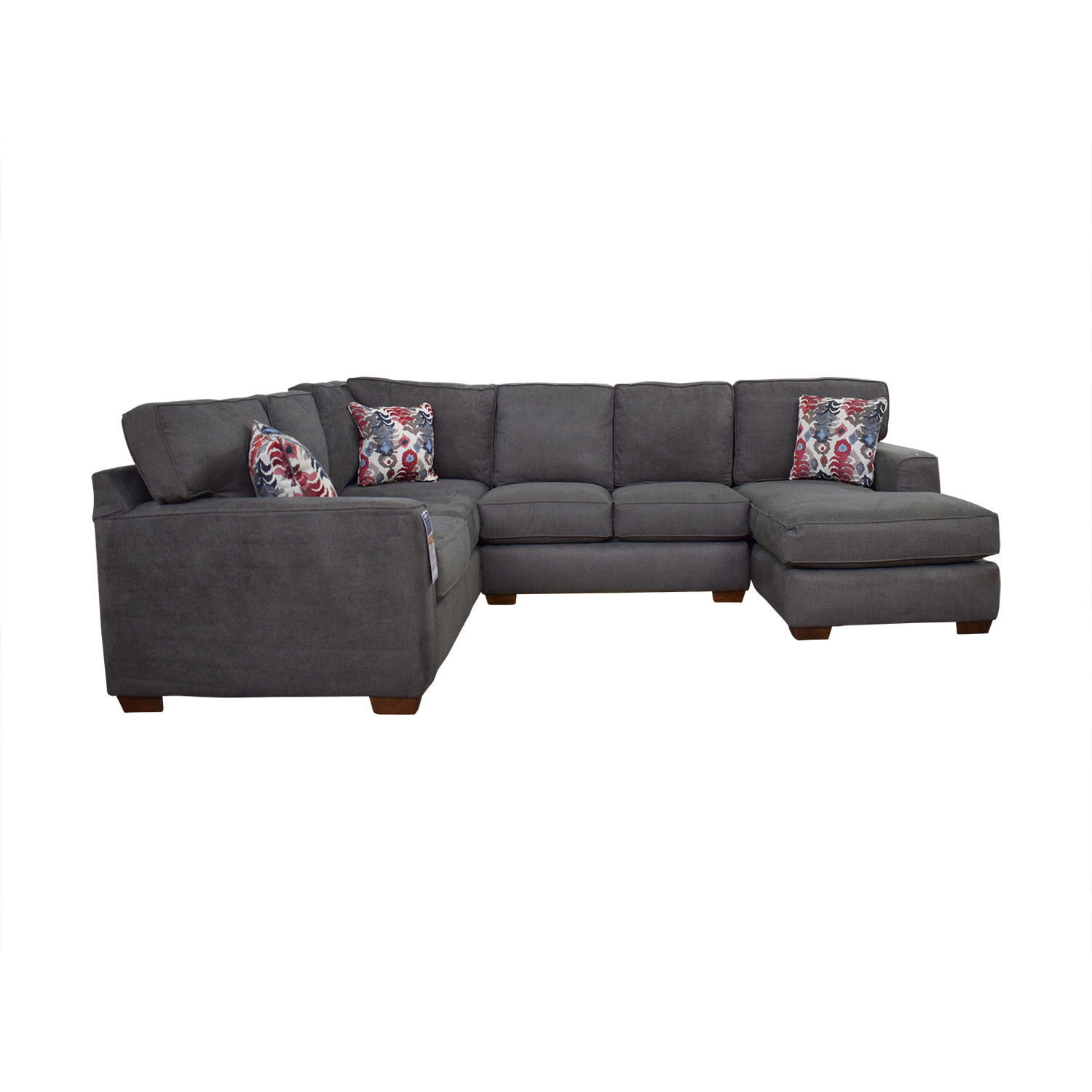 Klaussner Klaussner Abbott Three-Piece Chaise Sectional Sofa