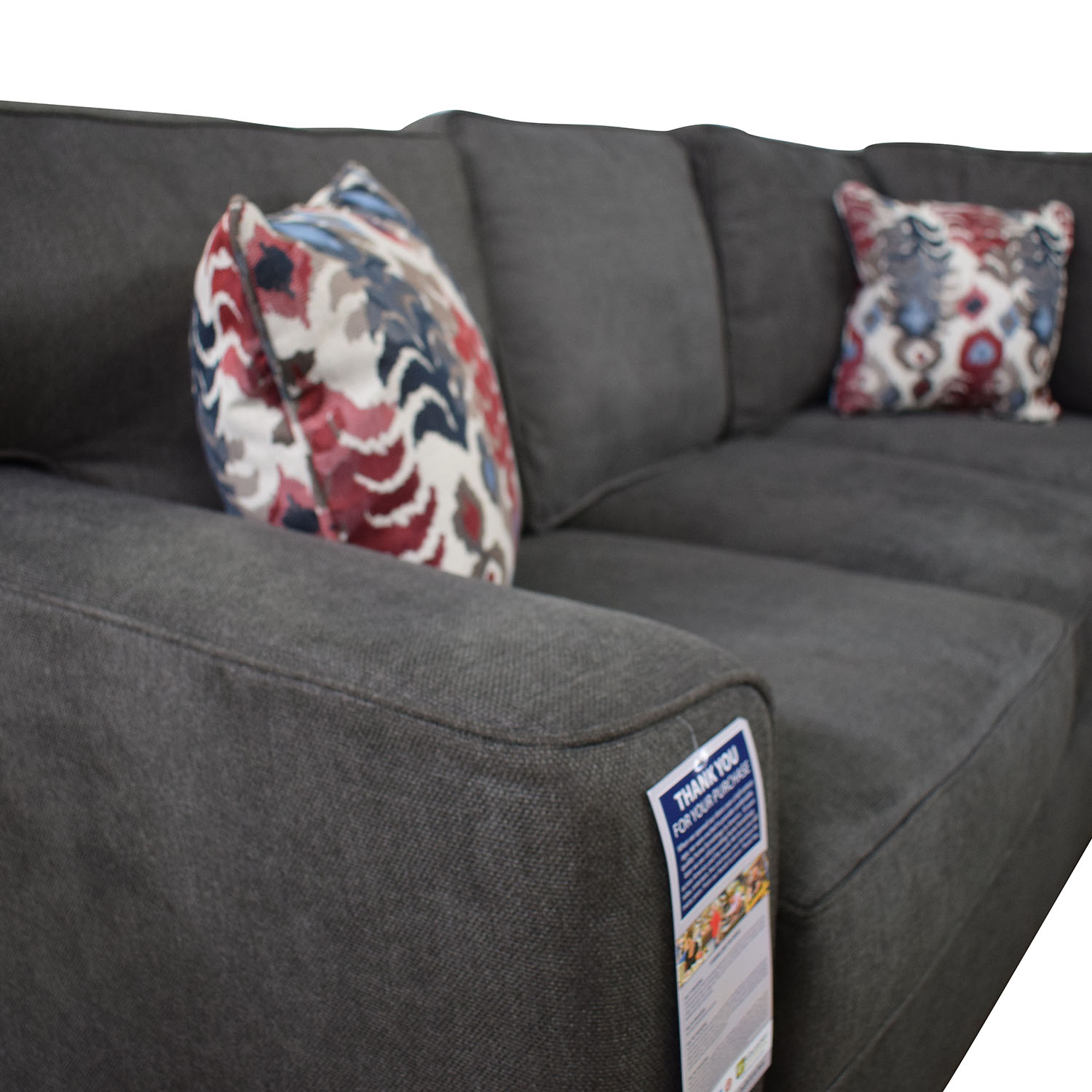 Klaussner Klaussner Abbott Three-Piece Chaise Sectional Sofa Sectionals