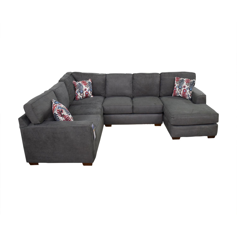 Klaussner Klaussner Abbott Three-Piece Chaise Sectional Sofa nj