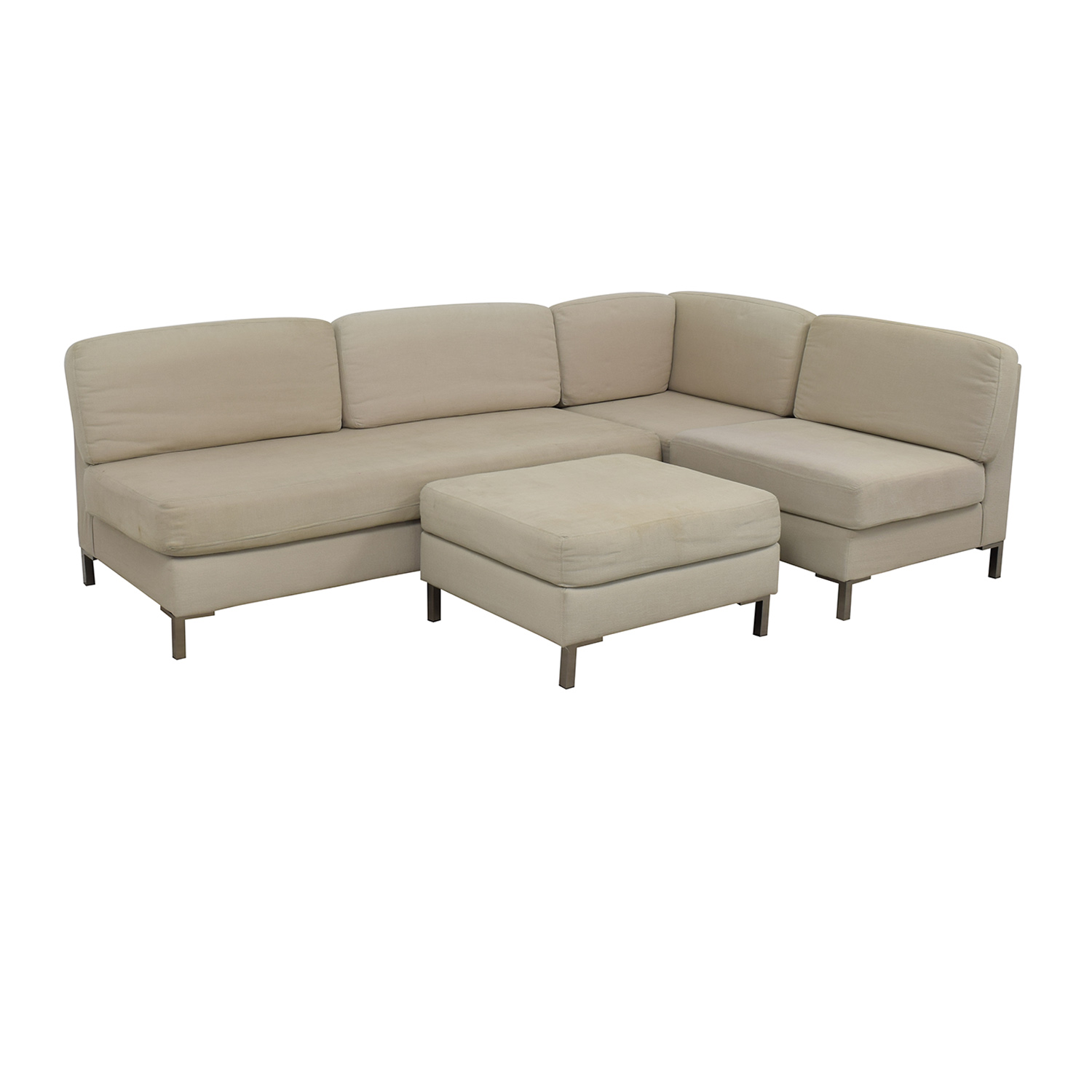 buy West Elm Armless Sectional Plus Ottoman West Elm Sectionals