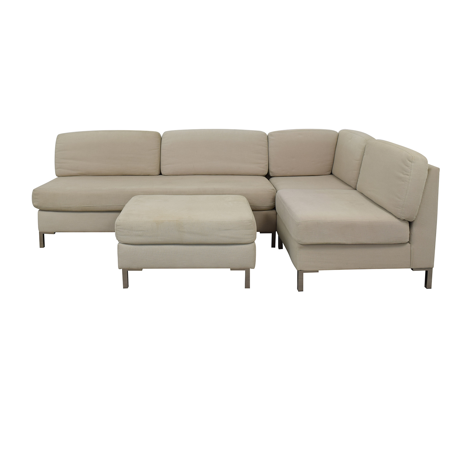 West Elm Armless Sectional Plus Ottoman / Sectionals
