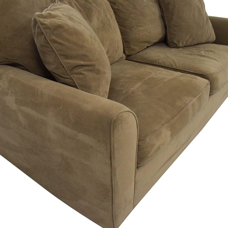 JC Penney JC Penney Two-Cushion Loveseat Tan/Beige