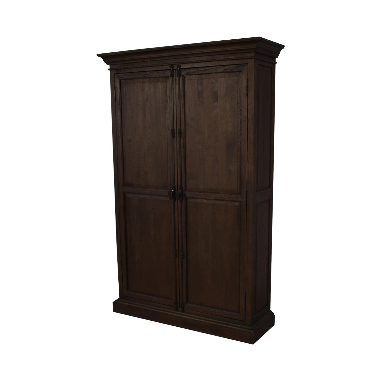 buy Restoration Hardware French Panel Double Door Cabinet Restoration Hardware Storage