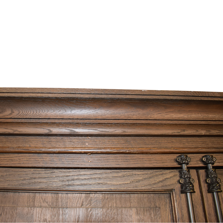 Restoration Hardware French Panel Double Door Cabinet Restoration Hardware
