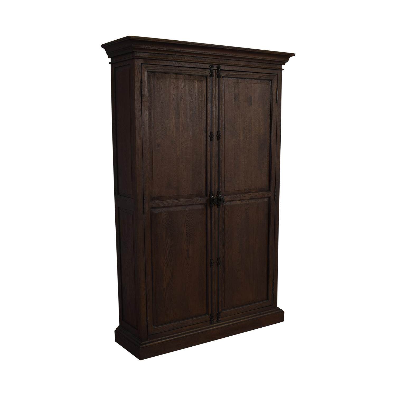 Restoration Hardware Restoration Hardware French Panel Double Door Cabinet on sale