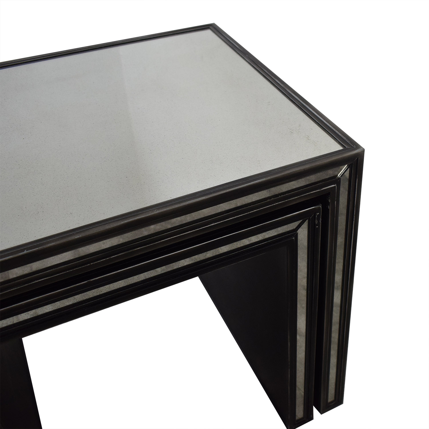 buy Restoration Hardware Restoration Hardware Strand Mirrored Nesting  Side Tables online