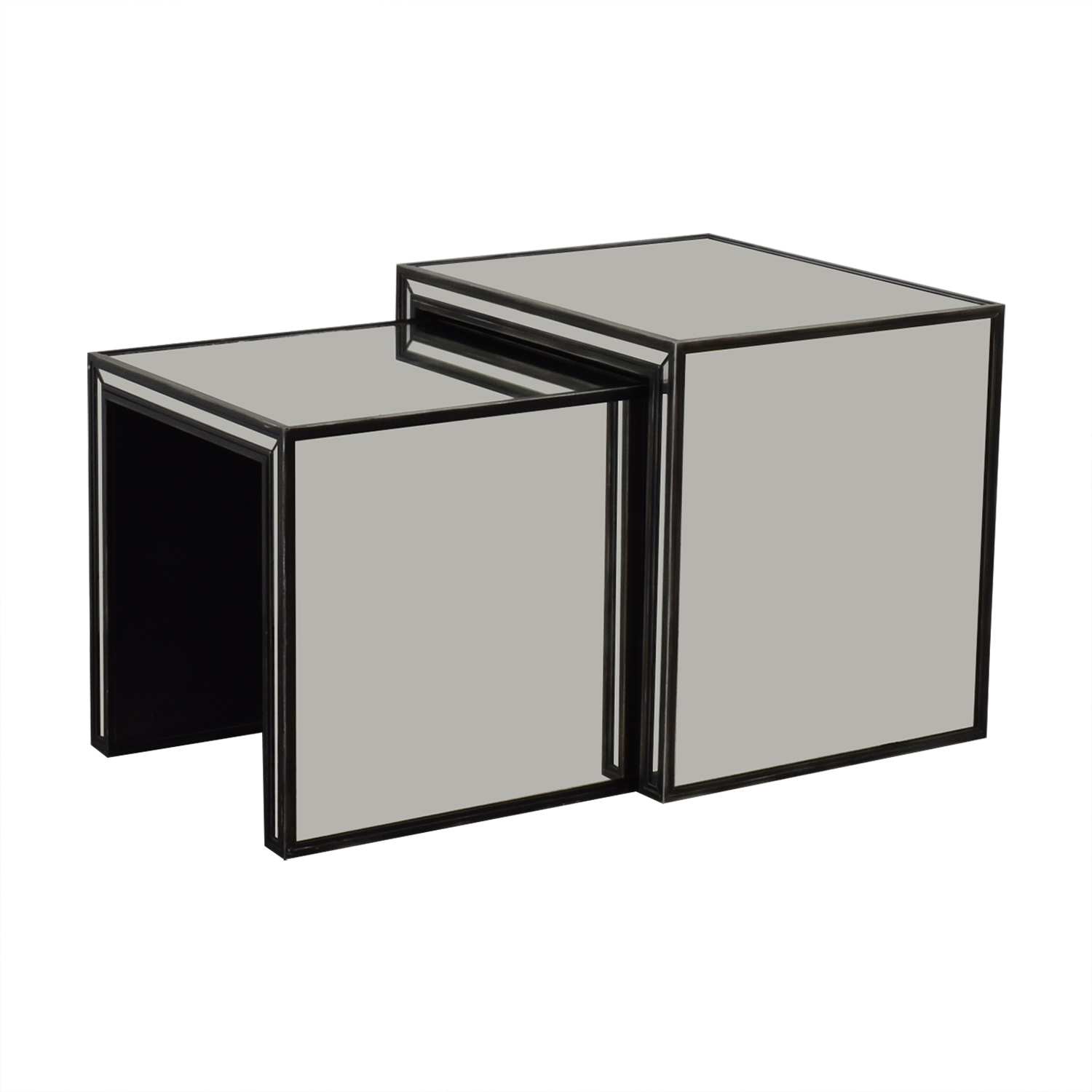 Restoration Hardware Restoration Hardware Strand Mirrored Nesting  Side Tables black
