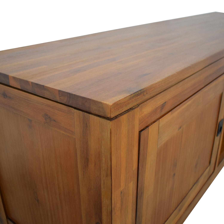 buy Macy's Macy's Cresent Fine Furniture Wooden TV Stand online
