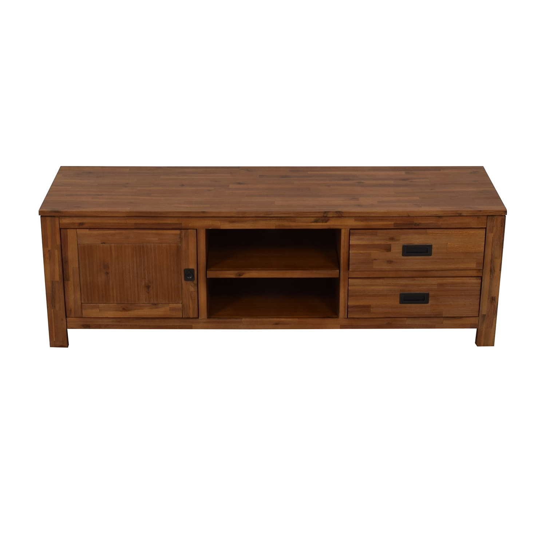 shop Macy's Cresent Fine Furniture Wooden TV Stand Macy's
