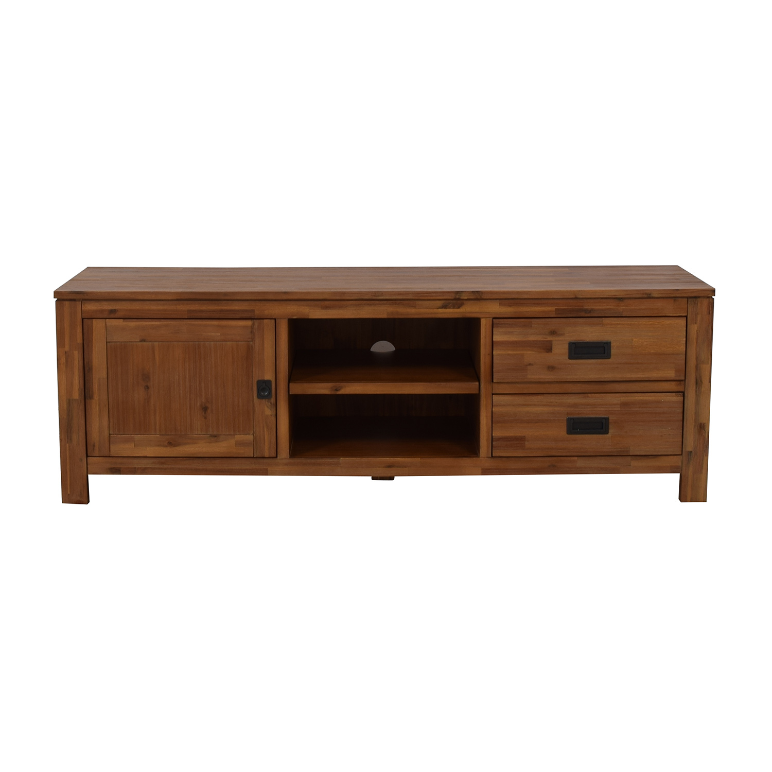 shop Macy's Cresent Fine Furniture Wooden TV Stand Macy's Media Units