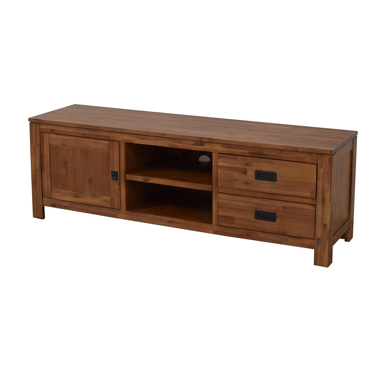 Macy's Macy's Cresent Fine Furniture Wooden TV Stand discount