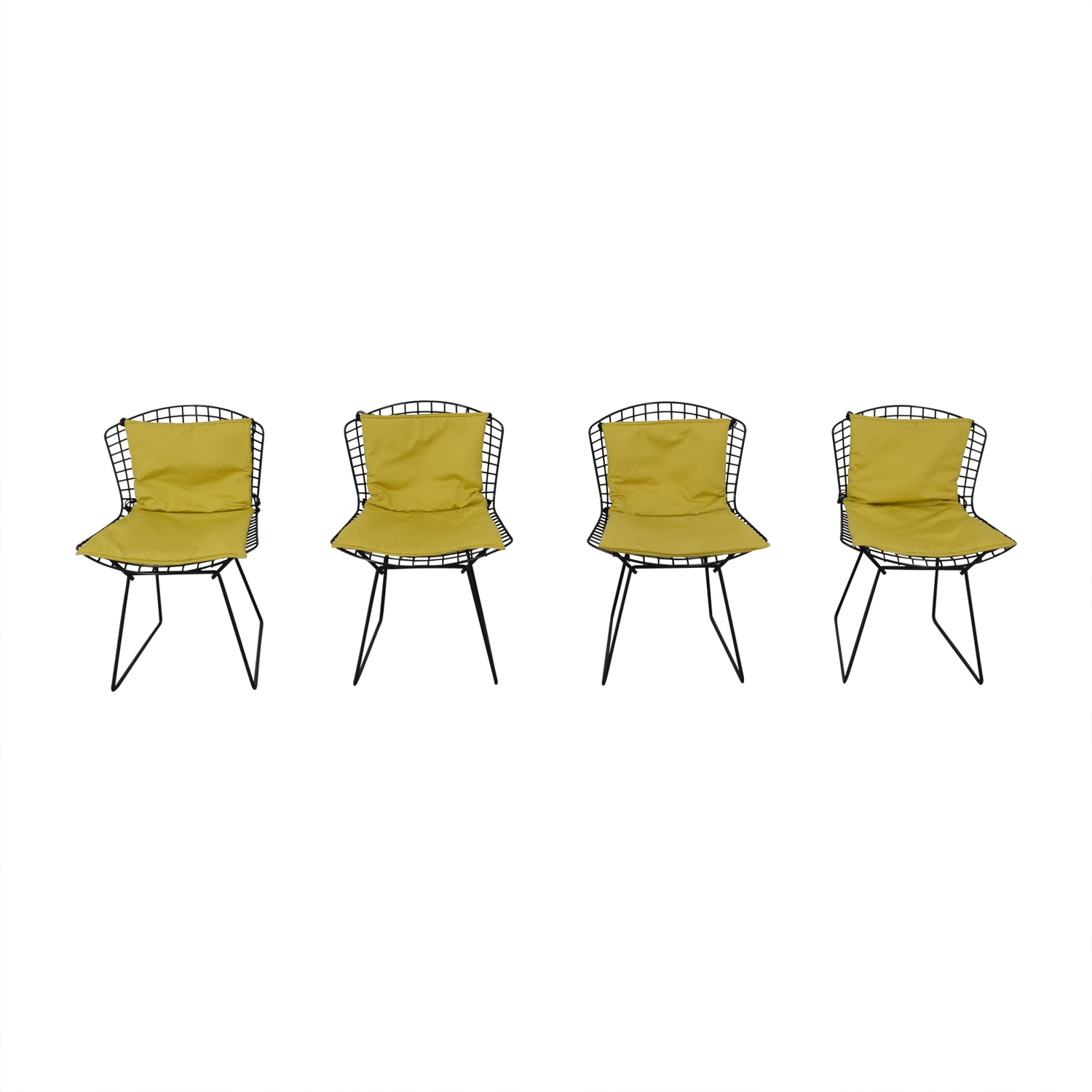 shop Bertoia Wire Chairs with Ligne Roset Cushions Knoll Chairs